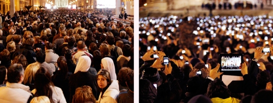 Pope Benedict's Inauguration in 2005 vs. Pope Francis' Inauguration 2013