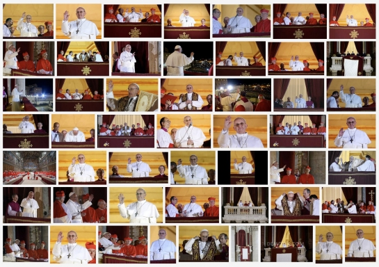 Google search 'Pope Francis on Balcony 2013'